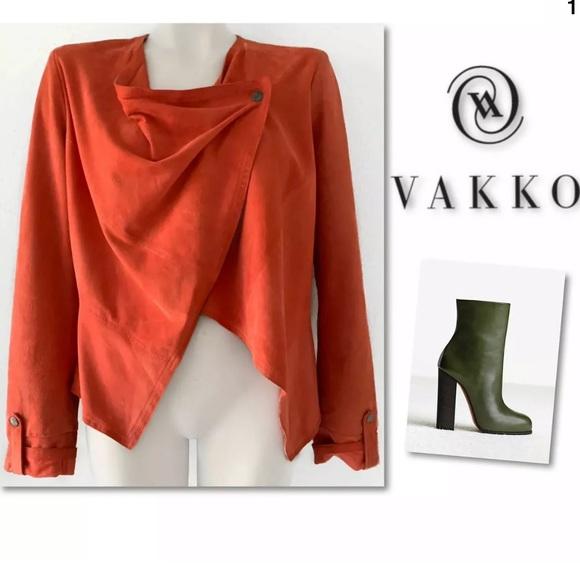 Vakko Jackets & Blazers - VAKKO NEW YORK SUEDE LEATHER RUNWAY JACKET SZ L